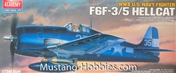 Academy 1/72  GRUMMAN F6F-3/5 Hellcat WWII US. NAVY FIGHTER