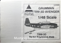 ACCURATE MINIATURES 1/48Grumman TBM-3D Avenger Radar Equipped