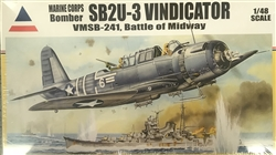 Accurate Miniatures 1/48 Marine Corps Bomber SB2U-3 Vindicator VMSB-241, Battle of Midway
