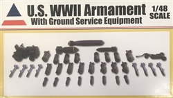 Accurate Miniatures 1/48 U.S. WWII Armament With Ground Service Equipment