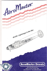 Aero Master Decals 1/48 LIGHTNING IN THE SKY
