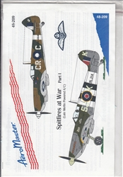 Aero Master Decals 1/48 SPITFIRES AT WAR PART 1 LATE MERLIN POWERED A/C