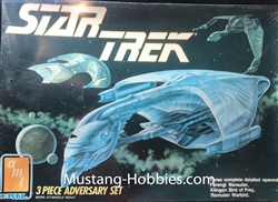 AMT 1/2500 Star Trek The Next Generation 3 Piece Adversary Set (Ferengi Marauder, Klingon Bird of Prey, Romulan Warbird)