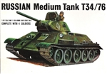 BANDAI 1/48 Russian Medium Tank T34/76 Complete with 4 soldiers