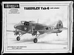 ENCORE MODELS 1/72 Yakovlev Yak-6 (with wheels)
