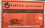 FALCON 1/72 Clear-Vax Canopies JAPANESE AAF WWII