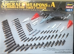 HASEGAWA 1/48 AIRCRAFT WEAPONS SET:A US BOMBS & TOW  TARGET SYSTEMS