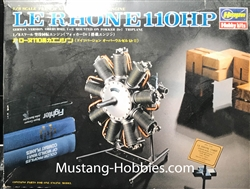 HASEGAWA 1/8 Le Rhone 110 HP French Air-Cooled Rotary Engine