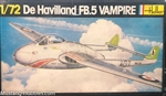 HELLER 1/72 De Havilland FB.5 Vampire