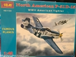 ICM 1/48 North American P-51-15 WWII American Fighter