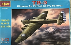 ICM 1/72 TB-3 Chinese Air Force Heavy Bomber
