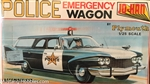 JO-HAN 1/25 Police Emergency Wagon 1960 PLYMOUTH STATION WAGON