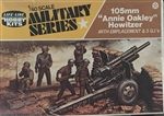 "LIFE LIKE 1/40 Combat Jeep and Trailer105mm ""Annie Oakley"" Howitzer with Emplacement & 5 G.I.s"