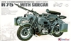 Lion ROAR 1/35 WWII German BMW Motorcycle R75 w/Sidecar