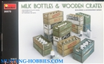 MINIART 1/35 Milk Bottles & Wooden Crates