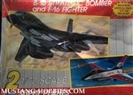 MONOGRAM 1/72 B-1B Strategic Bomber and F-16 Fighter