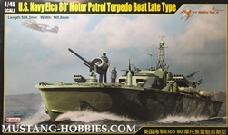 MERIT INTERNATIONAL 1/48 U.S. Navy Elco 80' Motor Patrol Torpedo Boat Late Type