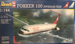REVELL GERMANY 1/144 Fokker 100 SWISSAIR / KLM