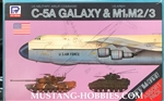 SKYWAVE/PIT-ROAD  1/700 US Military Airlift Command & US Army C-5A Galaxy & M1, M2/3