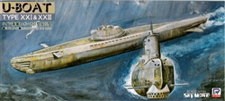 SKYWAVE 1/700 GERMAN SUBMARINE TYPE 21 & 23 U-BOAT
