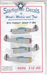 STARFIGHTER DECALS 1/48 16TH PURSUIT GROUP P-36S