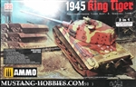 TAKOM/AMMO 1/35 Panzerkampfwagen Tiger Ausf. B. Henschel Turret 1945 King Tiger Limited Edition 2 in 1