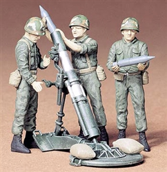TAMIYA 1/35  US 107mm Mortar/Crew (3)