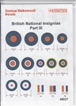 TECHMOLD 1/48 BRITISH NATIONAL INSIGNIAS PART III