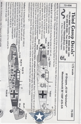 /THIRD GROUP DECALS 1/72 MESSERSCHMITT BF 109F-4/G-5/6 III GRUPPE JG 54 GRUNHERZ