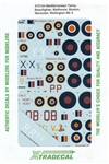 XTRADECALS 1/72 MEDITERRANEAN TWINS BEAUFIGHTER, BALTIMORE, BOSTON, MARAUDER, WELLINGTON MK. X