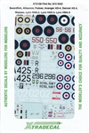 XTRADECALS 1/72 FAA NO. 815 AS.4 SWORDFISH, ALBACORE, FULMAR, AVENGER AS-4, GANNET AS-4, WESSEX, LYNX HAS.2, LYNX HAS.3, LYNX HMA.8