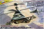 ZVEZDA 1/72 BLACK GHOST KAMOV Ka-58 RUSSIAN STEALTH ATTACK HELICOPTER