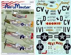 Aero Master Decals 1/32 GREEN NOSE MUSTANGS OF EAST WRETHAM PART 2