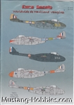 EURO DECALS 1/72 WORLDWIDE DE HAVILLAND VAMPIRES