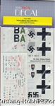 EXTRA TECH DECALS 1/48 LUFTWAFFE NIGHT FIGHTER ACES I