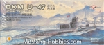 FLYHAWK 1/700 U-boat Type VII B DKM U-47 2 kits in the box