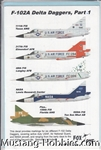 FOX ONE DECALS 1/48 F-102A DELTA DAGGERS PART 1