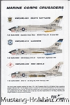 FOX ONE DECALS 1/48 MARINE CORPS CRUSADERS