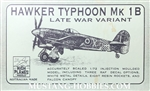 HIGH PLANES MODELS 1/72 Hawker Typhoon Mk 1B Late War Variant