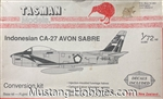 Tasman Model Products 1/72 INDONESIAN CA-27 AVON SABRE CONVERSION KIT