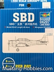 TRUMPERTER 1/200 SBD Dauntless Aircraft