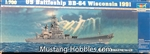 TRUMPETER 1/700 USS Wisconsin BB64 Battleship 1991 NO DECALS