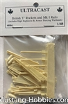 ULTRACAST 1/48BRITISH 3' ROCKETS AND MKI RAILS INCLUDES HIGH EXPLOSIVE & ARMOR PIERCING WAR HEADS