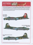 WARBIRDS DECALS 1/48 B17 ID Sq. & ID Lettering, Numbers, Bomb (Yellow) Group Symbols for Camouflage Finish