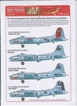 WARBIRDS DECALS 1/48 B17 Lettering, Numbers for Natural Metal Finish