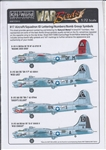WARBIRDS DECALS 1/72 B17 Sq. ID Lettering, Numbers, Bomb Group Symbols for Natural Metal Finish