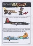 WARBIRDS DECALS 1/72 B17FG Lightning Strikes, Fuddy Duddy