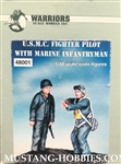 WARRIORS 1/48 U.S.M.C FIGHTER PILOT WITH MARINE INFANTRYMAN